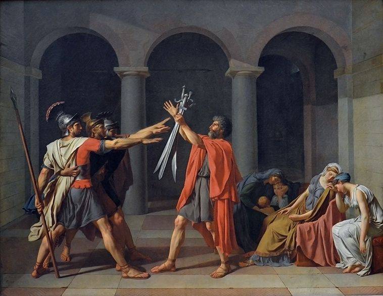 jacques louis david eed van de horatii
