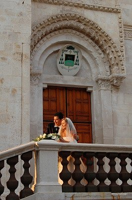 Pas getrouwd (Giovinazzo, Apulië, Italië); Just married (Giovinazzo, Apulia, Italy)