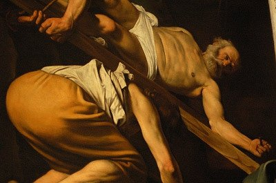De kruisiging van Petrus (Caravaggio, Rome); The Crucifixion of Saint Peter (Caravaggio, Rome)