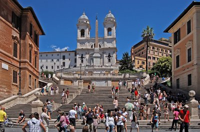 Spaanse trappen (Rome, Italië); Spanish steps (Italy, Latium, Rome)