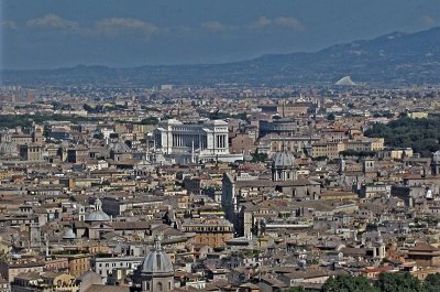Uitzicht over Rome; View over Rome