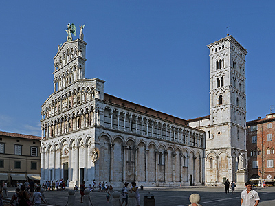 Kerk San Michele in Foro, Lucca, Toscane, Italië; San Michele in Foro, Lucca, Tuscany, Italy