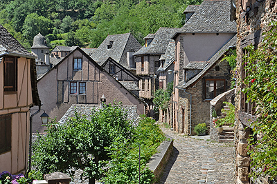 Abdijkerk van Sainte-Foy, Conques, Frankrijk; Abbey Church of Saint Foy, Conques, France