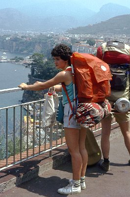 Rugzakkers in Sorrento; Backpackers in Sorrento