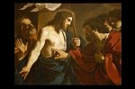 Guercino, de Ongelovige Thomas, Rome; Guercino, The Incredulity of Saint Thomas, Rome
