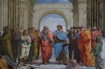 School van Athene, Rafaël, Rome; The School of Athens, Raphael, Rome