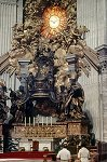 troon van Sint-Pieter; Chair of Saint Peter, Vatican City, Rome, Italy