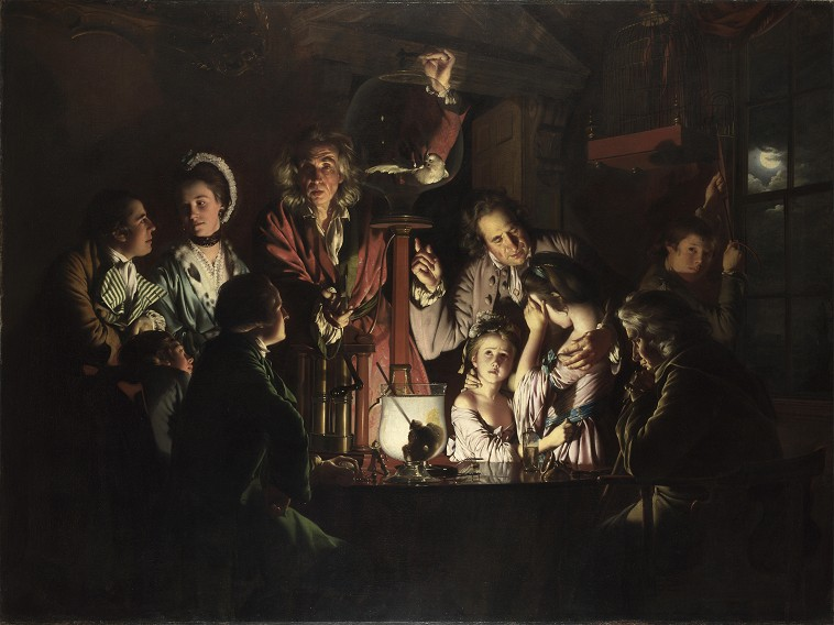 joseph wright of derby experiment met een luchtpomp