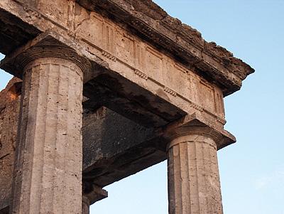 Tempel van Hercules, Cori (LT, Lazio, Italië); Temple of Hercules, Cori (LT, Latium, Italië)