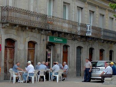 Oudere mannen kaarten (Abruzzen); Elderly men playing cards (Abruzzo)