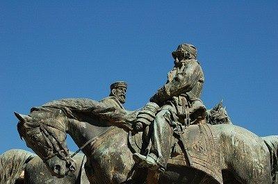 Victor Emanuel II en Garibaldi (Toscane, Italië); Victor Emmanuel II and Garibaldi (Tuscany, Italy)