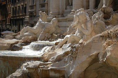 Trevifontein (Fontana di Trevi), Rome, Italië; Trevi Fountain, Rome, Latium, Italy