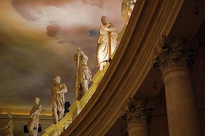 Teatro Olimpico, Vicenza, Veneto, Italië; Teatro Olimpico (Andrea Palladio), Vicenza, Italy