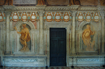 Odium, Teatro Olimpico, Vicenza, Veneto, Italië; Teatro Olimpico (Andrea Palladio), Vicenza, Italy