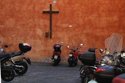 Scooters (Rome, Italië); Motorcycles (Italy, Latium, Rome)