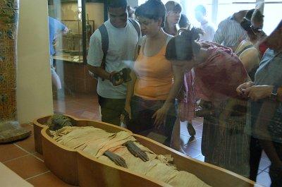 Egyptische mummie in de Vaticaanse musea; Egyptian mummy in the Vatican Museums