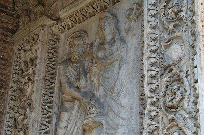 Boog van de geldwisselaars (Rome); Arch of the money-changers (Rome)