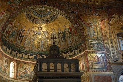 Basiliek van Santa Maria in Trastevere, Rome; Basilica of Our Lady in Trastevere, Rome, Italy
