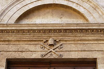 Co-kathedraal van Pienza (SI, Toscane, Italië); Pienza Cathedral (SI, Tuscany, Italy)