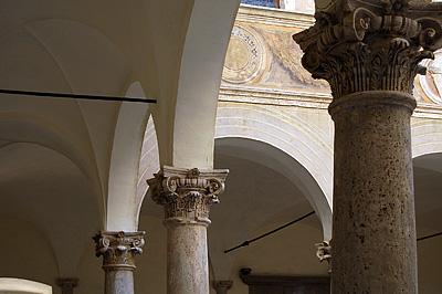 Palazzo Piccolomini in Pienza (Toscane, Italië); Palazzo Piccolomini in Pienza (Tuscany, Italy)