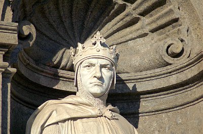 Karel van Anjou, Koninklijk Paleis, Napels; Royal Palace, Naples (Campania, Italy)