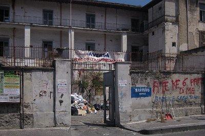 Piazza Municipio, Aversa, Campanië, Italië; Piazza Municipio, Aversa, Campania, Italy