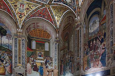 Libreria Piccolomini, Dom van Siena, Italië; Libreria Piccolomini, Siena Cathedral, Italy