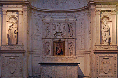 Piccolomini-altaar ,Dom van Siena, Toscane, Italië; Piccolomini altar, Siena Cathedral, Tuscany, Italy
