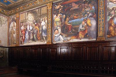 Oratorium van San Bernardino, Siena,Italië; Oratory of San Bernardino, Siena, Italy