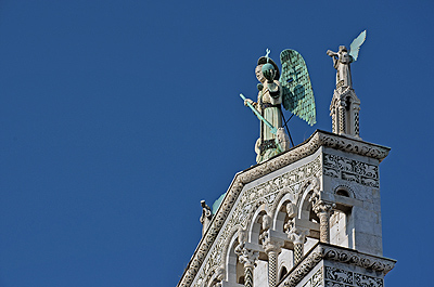 Kerk San Michele in Foro, Lucca, Toscane, Italië; San Michele in Foro, Lucca, Tuscany, Italy
