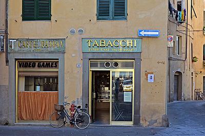Caffè Patria, Lucca, Toscane, Italië; Caffè Patria, Lucca, Tuscany, Italy