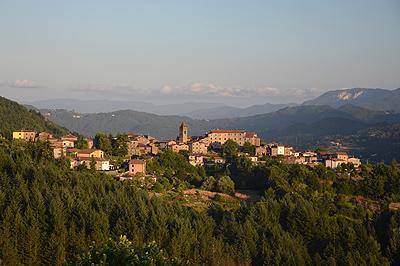 Dorpje in de Garfagnana, Toscane, Italië; Village in the Garfagnana, Tuscany, Italy
