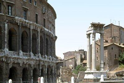 Theater van Marcellus, Rome, Italië; Theatre of Marcellus, Rome, Italy