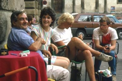 Op een terrasje in Florence (Toscane, Italië); On a terrace in Florence (Tuscany, Italy)