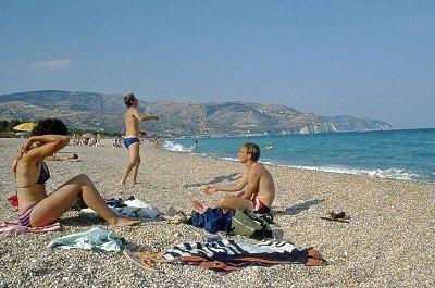 Op het strand van Mattinata (Apulië, Italië); On the beach of Mattinata (Apulia, Italy)
