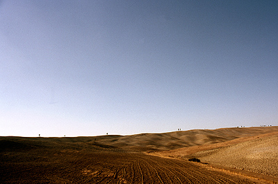 Heuvels in burchtstadjes in Toscane, Italië; Hills in Tuscany, Italy