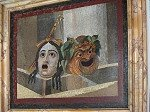 Mozaïek met theatermaskers (Rome); Mosaic with scenic masks