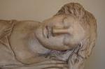 Slapende muse (?), Vaticaans Museum, Rome.; Sleeping muse (?), Vatican Museums, Rome