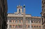 Palazzo Montecitorio, Rome, Italië; Palazzo Montecitorio, Rome, Italy