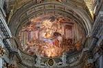 Kerk van Sint-Ignatius. Rome, Italië; Church of Saint Ignatius, Rome, Italy