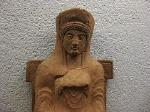 Terracotta votiefbeeldje, (Paestum, Italië); Votive terracotta, Paestum (Campania, Italy)