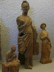 Terracotta votiefbeeldjes, (Paestum, Italië); Votive terracottas, Paestum (Campania, Italy)