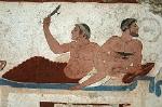 Graf van de Duiker, Paestum (Campanië. Italië); Tomb of the Diver, Paestum (Campania, Italy)