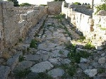 Romeinse straat, Paestum (Campanië. Italië); Roman street, Paestum (Campania, Italy)