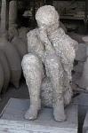Gipsafgietsel, Pompeii; Cast of a mule-driver, Pompeii, Campania, Italy