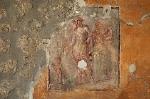 Fresco, Pompeii, Campanië, Italië; Fresco, Pompeii, Campania, Italy