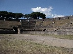 Amfitheater, Pompeii, Campanië, Italië; Amphitheater, Pompeii, Campania, Italy