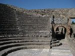 Klein Theater, Pompeii, Campanië, Italië; Little Theatre, Pompeii, Campania, Italy