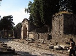 Via delle tombe, Pompeii, Campanië, Italië; Via delle tombe, Pompeii, Campania, Italy