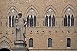 Sallustio Bandini, Piazza Salimbeni, Siena, Italië; Sallustio Bandini, Piazza Salimbeni, Siena, Italy